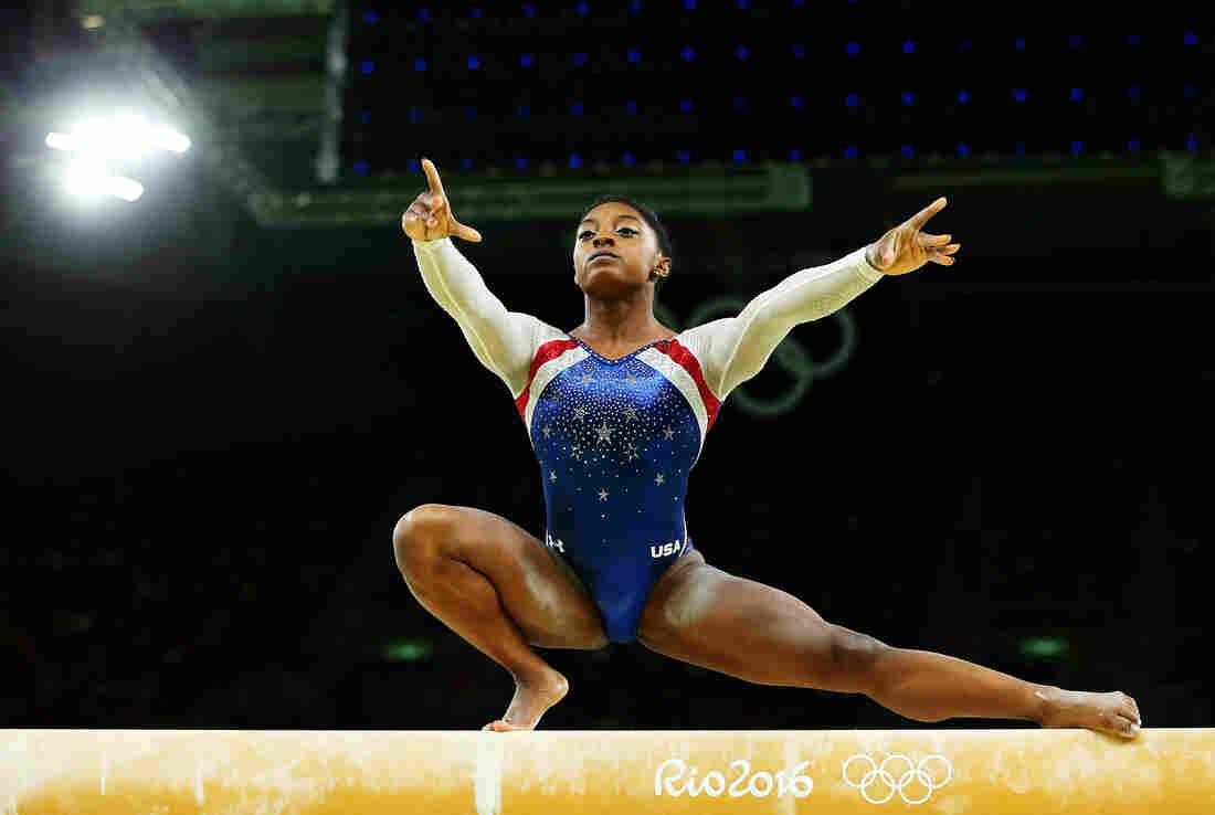 Simone Biles Takes Gold And Aly Raisman Silver In