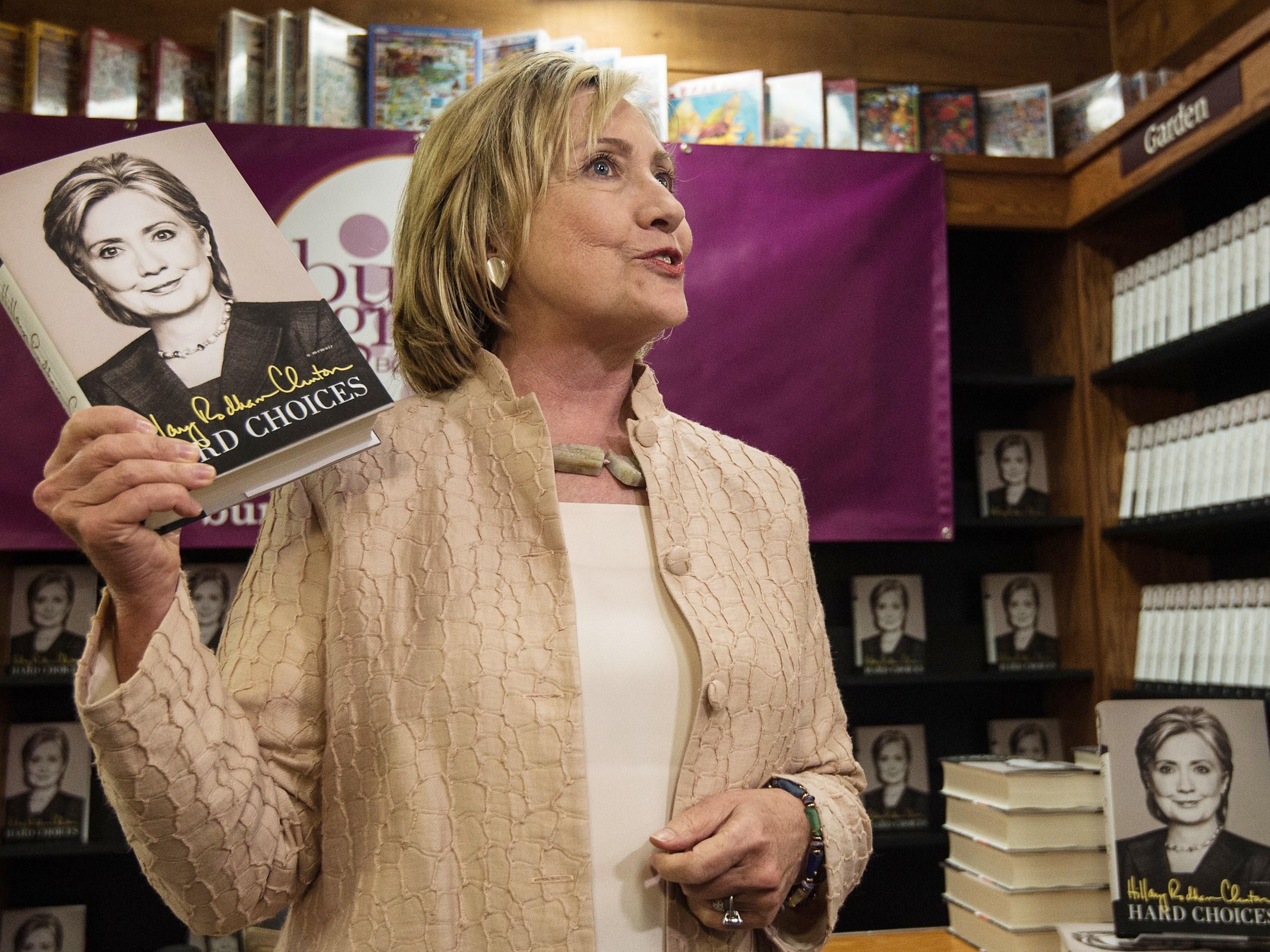 Clinton leads in four battleground states