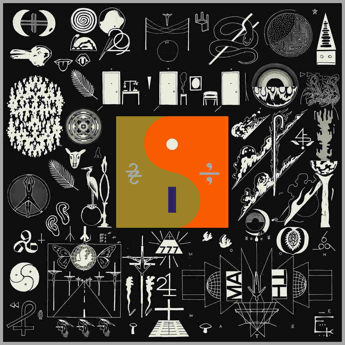 Cover art for Bon Iver's 22, A Million.