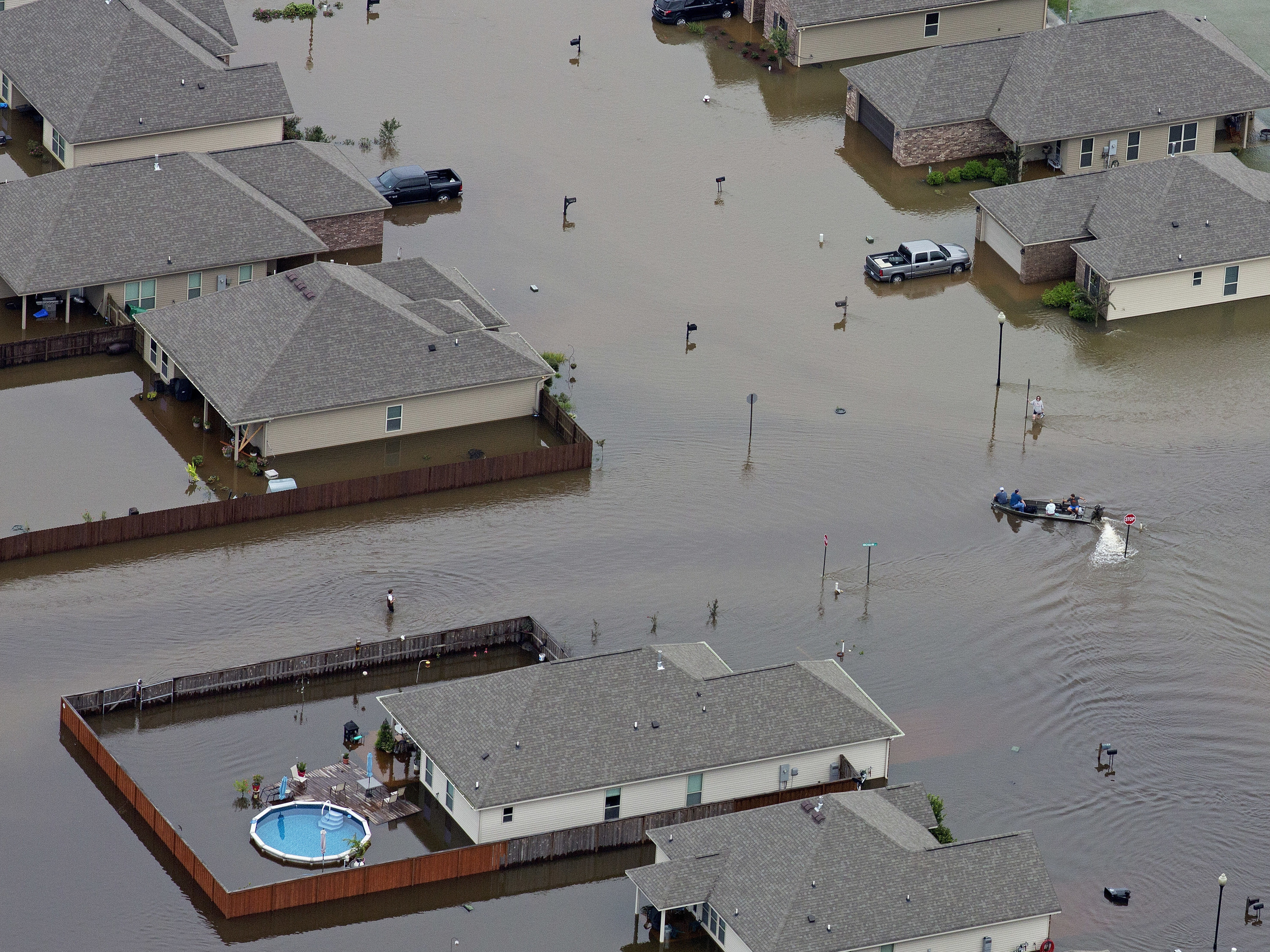 Floods hit Louisiana and Mississippi