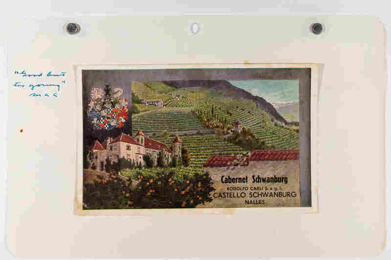 A label for Cabernet Schwanburg, from the Amerine collection at UC Davis