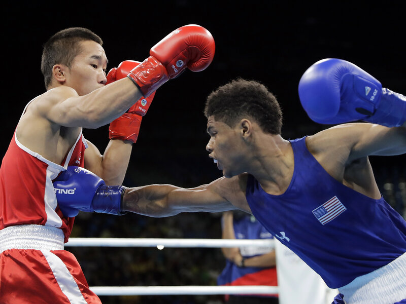 Boxer Shakur Stevenson, 19, Heads To Medal Round And A Fight With A Russian  : The Torch : NPR