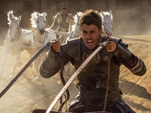 Toby Kebbell (front) plays Messala Severus and Jack Huston (rear) plays Judah Ben-Hur in Ben-Hur.