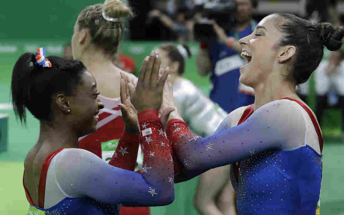Biles Wins Gold Raisman Silver In A Duel For Their Last