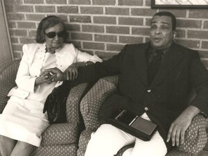 John Washington with his wife, Fannie Ruth Washington, in the mid-1970s.