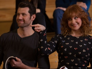 Billy Eichner and Julie Klausner quip about show business in Difficult People.