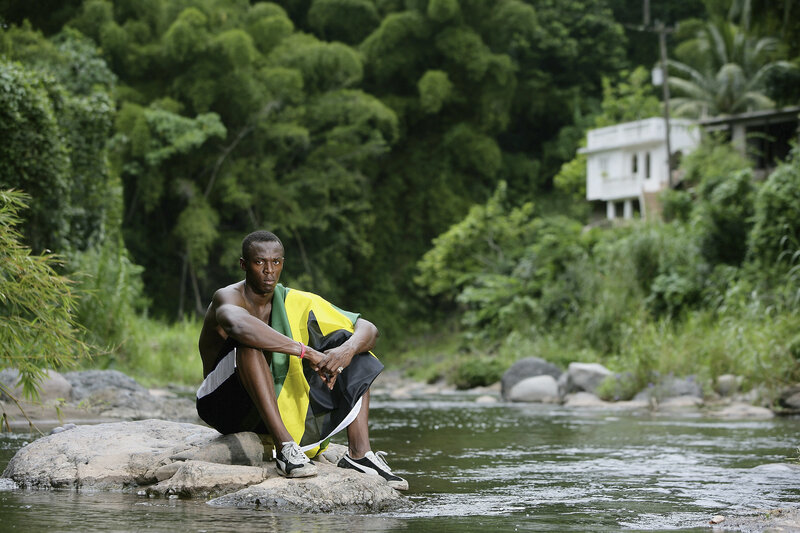 Usain Bolt in 2006 in Kingston, Jamaica. The world's faster sprinter grew up in a remote, rural part of the island.
