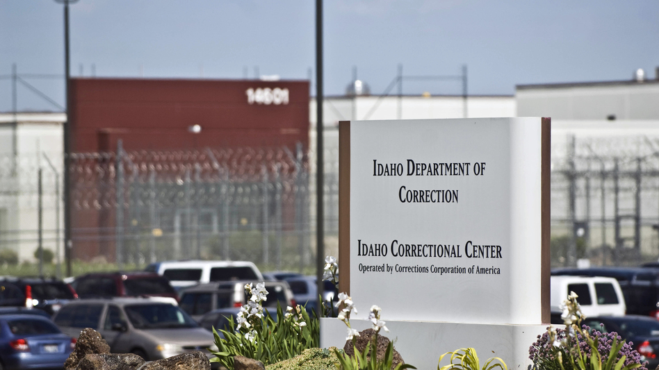 The Idaho Correctional Center south of Boise, Idaho, is a contract facility operated by Corrections Corporation of America. The Justice Department says it is phasing out its relationships with private prisons after a recent audit found they have more safety and security problems than ones run by the government. (Charlie Litchfield/AP)
