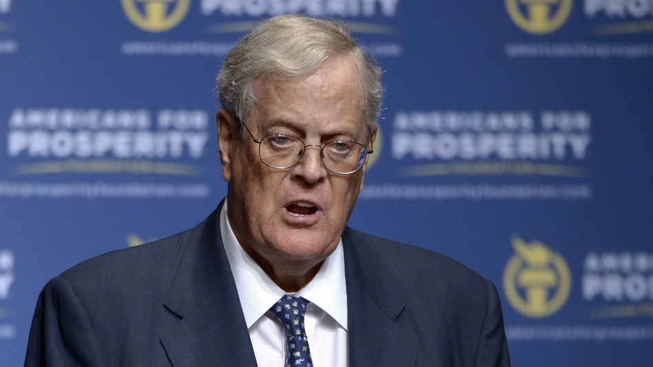 Conservative donor David Koch in a 2013 file photo. The political network he and his brother, Charles, have created is not backing Donald Trump's presidential bid this year. (AP)