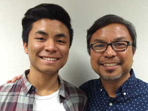 Drew and Danny Cortez, on a recent visit with StoryCorps in Cypress, Calif.