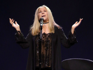 Barbra Streisand performs onstage at the Verizon Center in Washington, D.C.