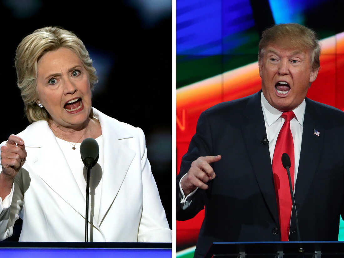 A composite image of Hillary Clinton and Donald Trump.