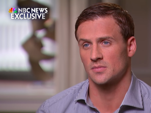 "U.S. Swimmer Ryan Lochte sits down with NBC's Today show host Matt Lauer in an exclusive interview Saturday night to address the ""robbery,"" at a gas station that Rio police later discredited as a fabricated story."