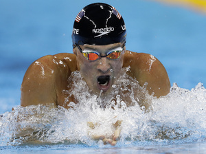 Ryan Lochte competes in the men's 200-meter individual medley final at the Summer Olympics in Rio de Janeiro on Aug. 11. A couple of days later, he reported he had been robbed at a local gas station — a story that turned out to be false. Now Speedo, one of his major sponsors, says it's dropping him.