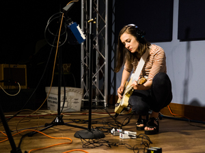 Margaret Glaspy in the World Cafe Studio