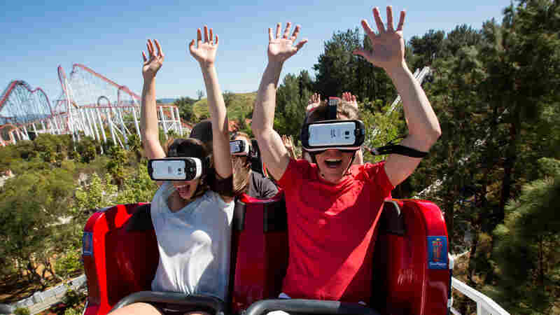 On Six Flags' Virtual Reality Coaster, The Ride Is Just Half The Thrill