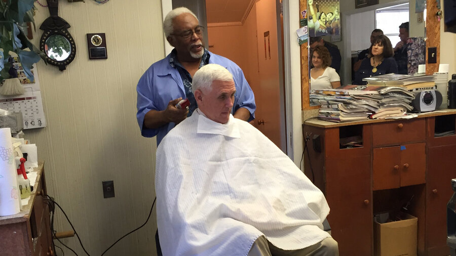 Mike pence got a haircut at a black barbershop in norristown pa npr winobraniefo Gallery
