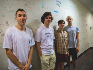 BADBADNOTGOOD outside the World Cafe performance studio.