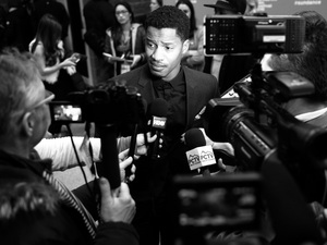 Nate Parker attends the The Birth Of A Nation premiere during the 2016 Sundance Film Festival.