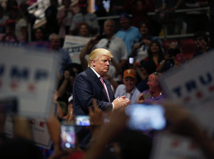 Republican presidential candidate Donald Trump at a rally in Austin, Texas, on Tuesday.