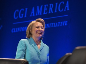 Former Secretary of State Hillary Rodham Clinton speaks at a 2013 Clinton Global Initiative event