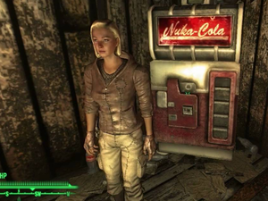 A screenshot from the video game Fallout 3 of a character standing near a Nuka-Cola machine. Soda machines appear in video games a lot more frequently than Jess Morrissette expected, so he decided to document this phenomenon.