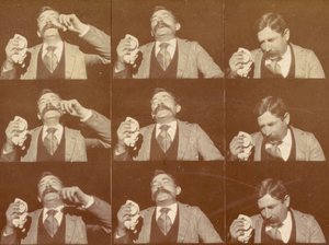 Edison kinetoscopic record of a sneeze, taken around 1894.