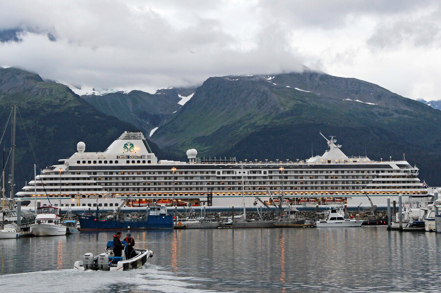 In Warmer Climate A Luxury Cruise Sets Sail Through Northwest - Image of cruise ship