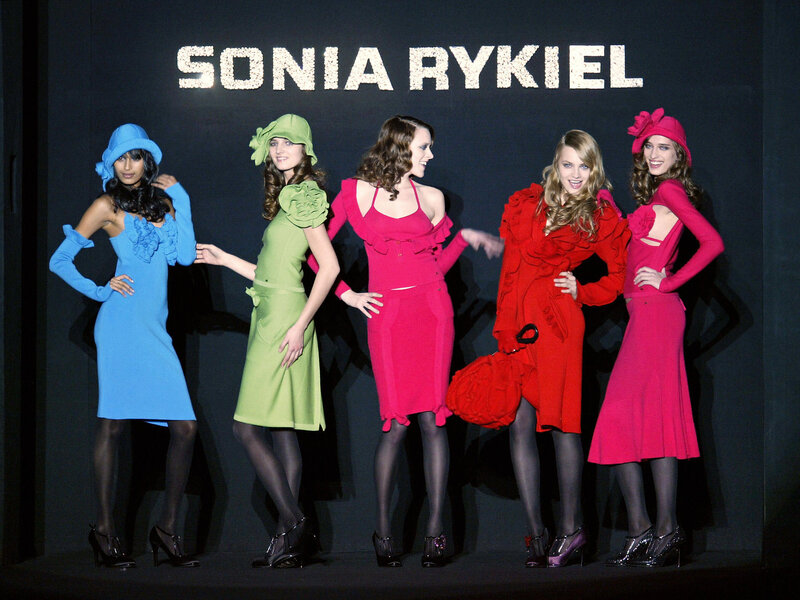 3f4b56de1aa Enlarge this image. Models wear creations by Rykiel during Paris Fashion ...