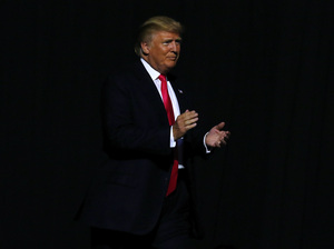 Republican presidential nominee Donald Trump speaks at the Mississippi Coliseum on Tuesday in Jackson, Miss.