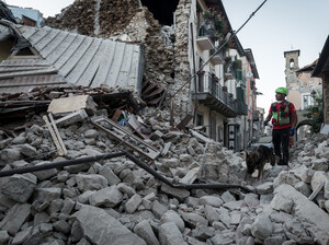 A 6.2-magnitude earthquake devastated central Italy, destroying numerous villages, including Accumoli. Rescue teams are searching for survivors and victims.