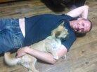 Dion Leonard is reunited with his beloved dog, Gobi.
