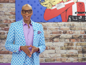 RuPaul on the set of his hit reality show, RuPaul's Drag Race.