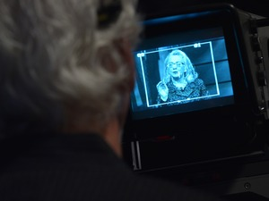 Hillary Clinton, seen on a T.V. camera monitor in 2013, has been criticized for not holding more press conferences.