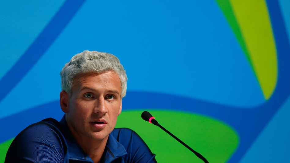 U.S. swimmer Ryan Lochte attends a news conference on Aug. 12 in Rio de Janeiro. (Matt Hazlett/Getty Images)