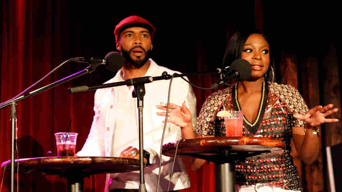 Omari Hardwick and Naturi Naughton on Ask Me Another.
