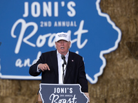 Trump Promises Crackdown On Immigrants At Iowa 'Roast And Ride' Event