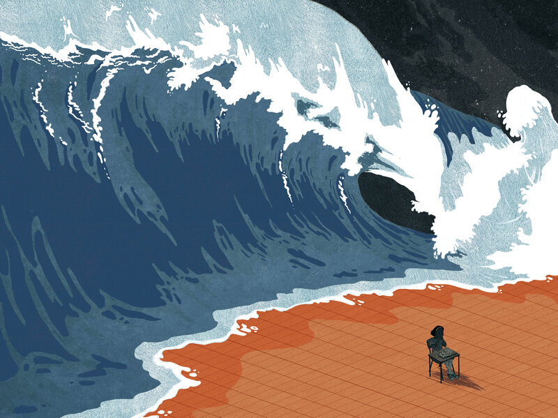 Mental health as a giant ocean wave