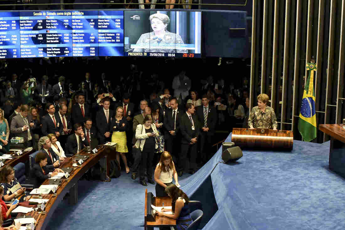 Brazil senate votes to remove President Rousseff