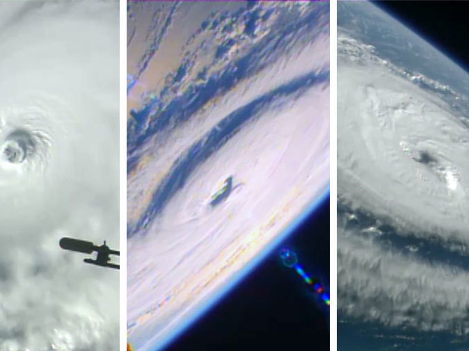 NASA releases video of 3 hurricanes from space