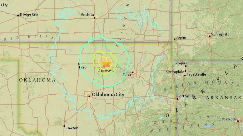 Earthquake Rattles Oklahoma One Of Strongest Recorded In State - Us fracking map 2016