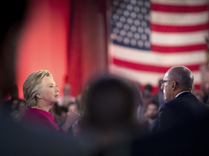 Hillary Clinton speaks with Today co-anchor Matt Lauer at the NBC Commander-In-Chief Forum on Wednesday night. Donald Trump appeared on the forum following Clinton.