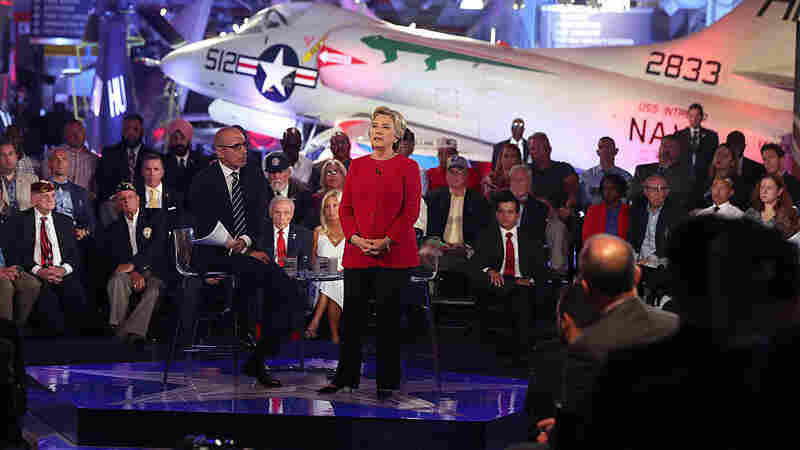 Foreign Policy Challenges Put Clinton, Trump On Defensive At Forum