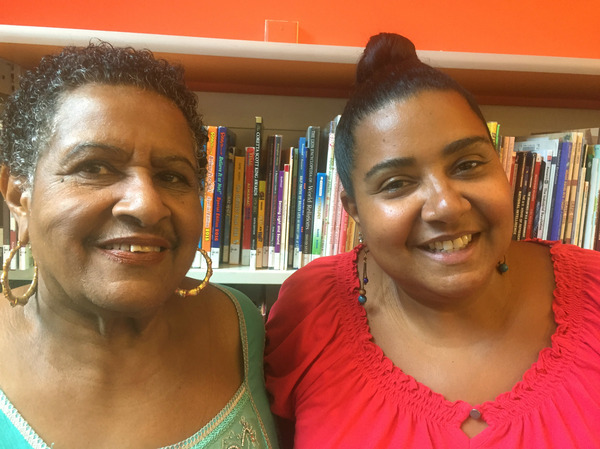Valerie Garcia (right) is children's librarian at the Aguilar branch of the New York Public Library. Her mother, Belen Garcia, worked for the NYPL for 45 years and knew Belpré.