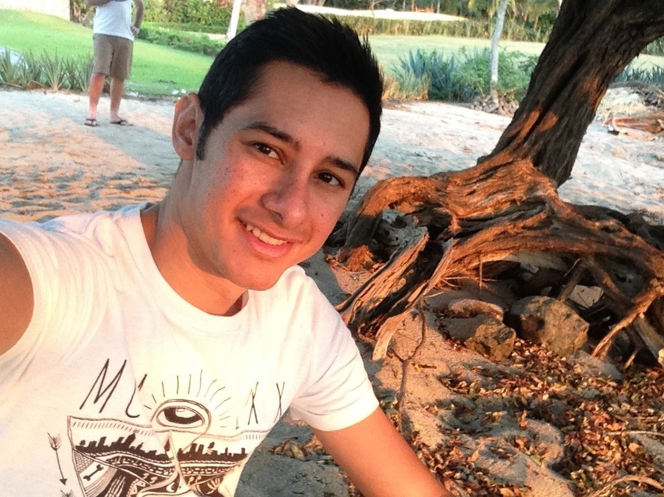 """Eddie Meltzer says his experiences following the Orlando nightclub massacre inspired him """"to help people in a different way."""" He now plans to become a grief counselor. (Courtesy Of Eddie Meltzer)"""