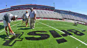 WATCH: Bristol Motor Speedway Transformed Into Vast Football Stadium