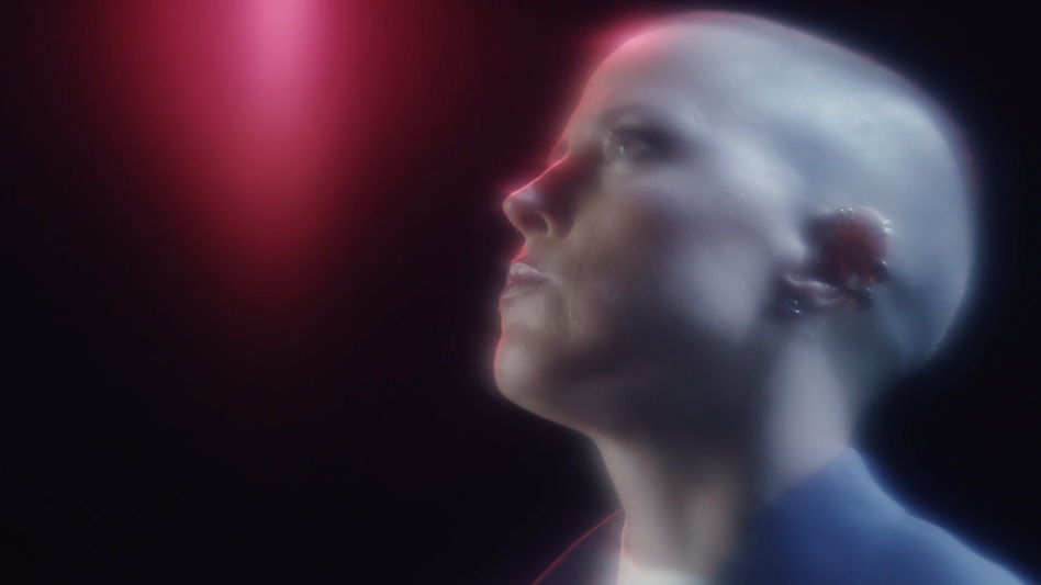 """Lower Dens frontwoman Jana Hunter in a scene from a video for the band's new song """"Real Thing."""" (Courtesy of the artist     )"""