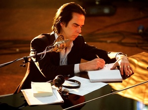 Nick Cave during the filming of One More Time With Feeling.
