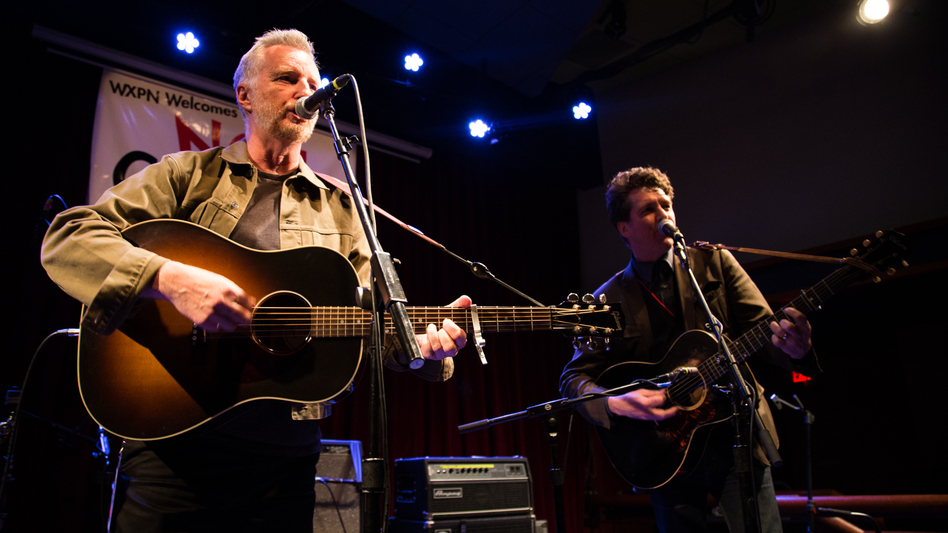 Billy Bragg and Joe Henry perform live at the 2016 Non-COMMvention in Philadelphia. (WXPN)