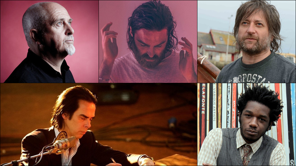 Clockwise from upper left: Peter Gabriel, Nick Murphy (formerly known as Chet Faker), King Creosote, L.A. Salami, Nick Cave (Courtesy of the artists)